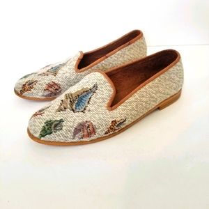 Vintage The Larkspur Collection Needlepoint Shoes
